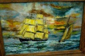 George C Edwards,Reverse Painting