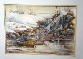 Ellen A. Nelson,  Watercolor- Coastal View