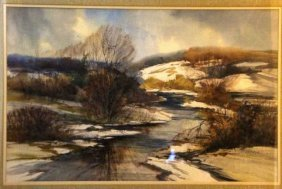Natalie Nordstrand, Watercolor, Winter View