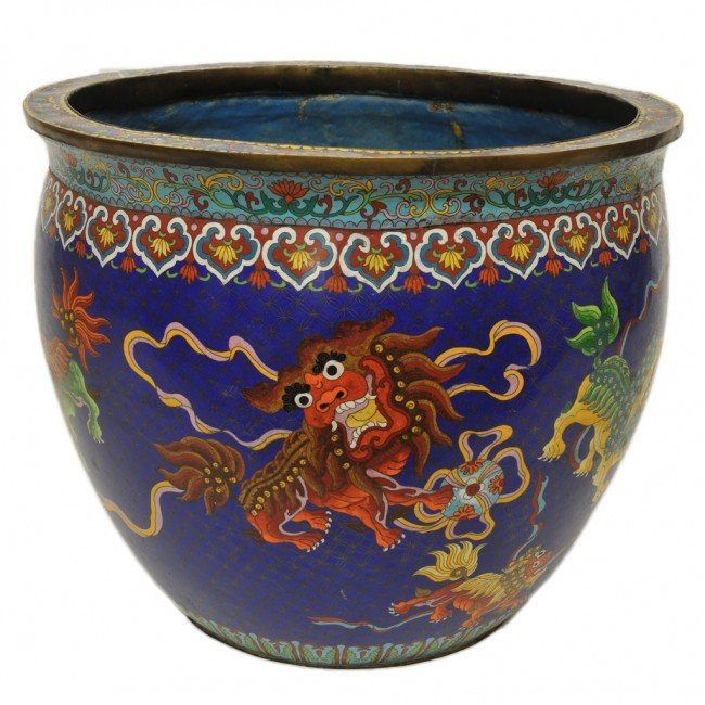 41a a large chinese cloisonne fish bowl lot 41a for Large fish bowl