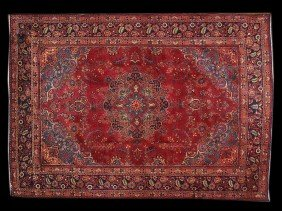 A PERSIAN TABRIZ RUG 8 Ft X 10 Ft 10 In