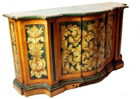 PAINTED VENETIAN COMMODE, ROCCO STYLE