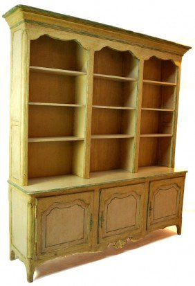TWO PIECE COUNTRY FRENCH STEP BACK CABINET