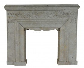 A FIREPLACE WITH SIMPLE CROWN MOLD MANTEL SHELF