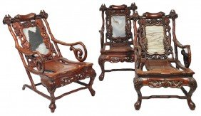 THREE INTRICATELY CARVED LATE 19TH CENTURY ASIAN SLI