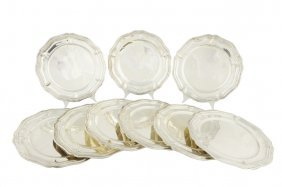 A SET OF NINE SANBORNS .925 STERLING SILVER DINNER