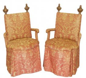 A PAIR OF ITALIAN OPERA CHAIRS