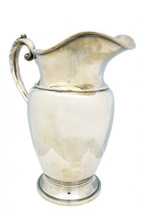 A GEORGE III STYLE .925 STERLING SILVER FOOTED WATER