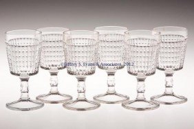 GREENTOWN NO. 38 / OVERALL LATTICE WINE GLASSES, S