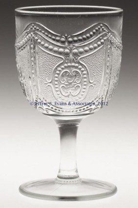 HEISEY NO. 160 / LOCKET ON CHAIN GOBLET
