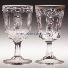 KANSAS / JEWEL AND DEWDROP GOBLETS, LOT OF TWO