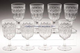 LOUISIANA / SHARP OVAL AND DIAMOND GOBLETS, SET OF