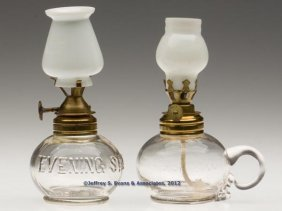 """EVENING STAR"" MINIATURE LAMPS, LOT OF TWO"