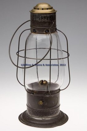 S. SARGENT'S BRASS AND PIERCED SHEET IRON KEROSENE