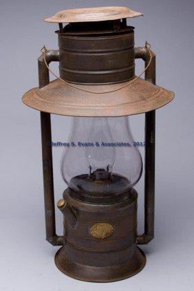 ROCHESTER LAMP CO. SHEET IRON GLOBE HANGING TUBULA