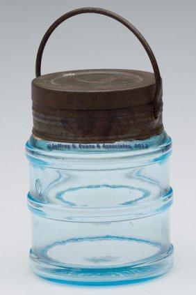 BLOWN-MOLDED SAMUEL ADLAM PATENT FOOD JAR