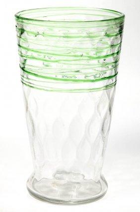 Steuben Threaded Diamond-optic Vase