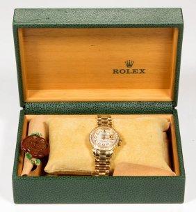 Rolex Datejust President 6917 18k Gold And Diamond