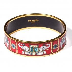 Hermes, Paris Enameled Bracelet