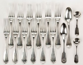 American Coin Silver Flatware, Lot Of 16