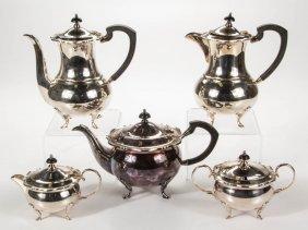 Australian Sterling Silver Five-piece Coffee And Tea