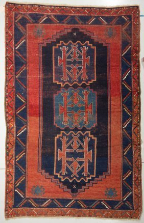 Semi-antique Persian Room-size Carpet