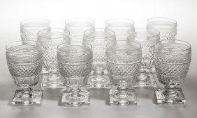 Webb Cut Glass Goblets, Lot Of 11