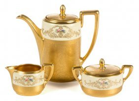 Pickard Gold-decorated Continental China Coffee