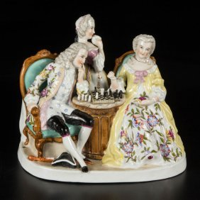 Continental Meissen-style Porcelain Figural Group