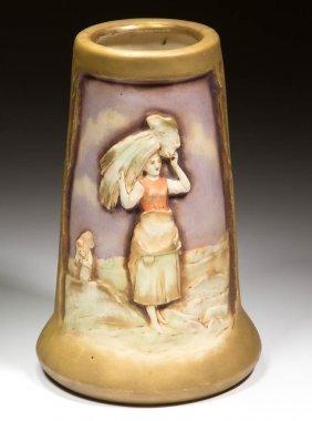 Continental Amphora Harvest Porcelain Vase