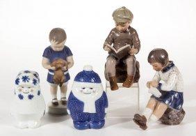 Danish Copenhagen Porcelain Figures, Lot Of Three