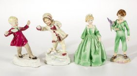 English Royal Worcester Porcelain Figures, Lot Of Four