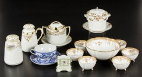 Japanese Nippon Porcelain Articles, Lot Of 16