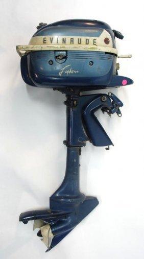 131 Vintage Evinrude Lightnin Three Outboard Motor Lot 131