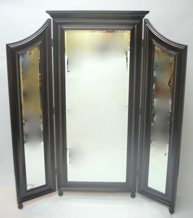 253 Trifold Standing Floor Mirror Lot 253