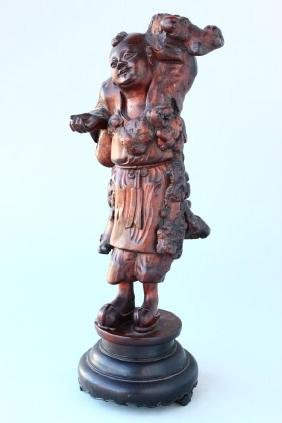 Chinese Carved Root Wood Figure,