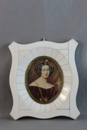 Finely Painted 19th Century Ivory Portrait