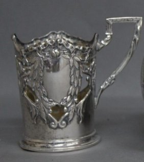 Austro-Hungarian Silver Cup Holder,