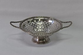 Miniature Reticulated Silver Tazza,