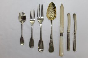 Seven Various Sterling Silver Flatware Items,