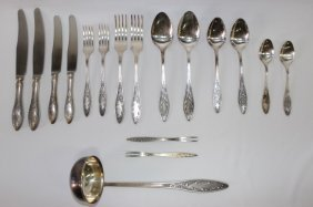 Extensive Russian Silver Plate Cutlery Service,