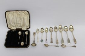 Quantity Of Assorted Sterling Silver Teaspoons,