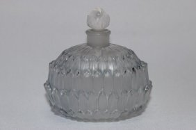 """Rene Lalique """"amelie"""" Perfume Bottle And Stopper,"""