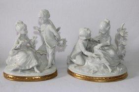Pair Of Unter Weiss Bach Porcelain Blanc De Chine