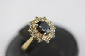 Ladies 9ct Gold Natural Australian Sapphire Ring,