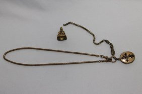 Rolled Gold Memorial Locket And Letter Seal,