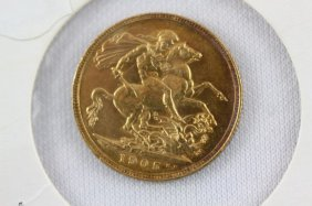 Gold 1905 Sovereign,