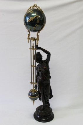 Figural Mystery Clock,