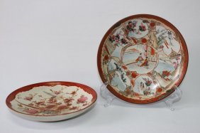 Two Japanese Kutani Plates,