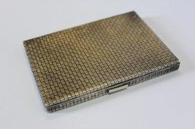 Boucheron Woven Silver Cigarette Case